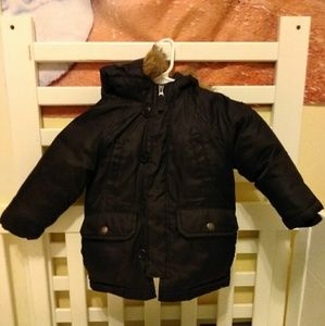 Gap down feather filled polyester coat